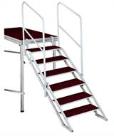 FOLDING STAIR WITH 6 STEPS FOR STAGES 90-180cm w/handrails